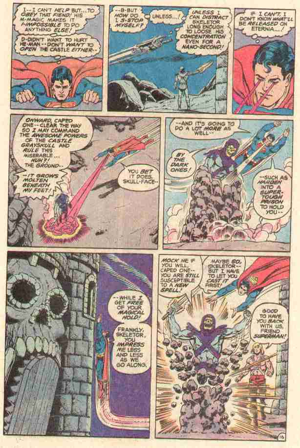 Superman stops Skeletor